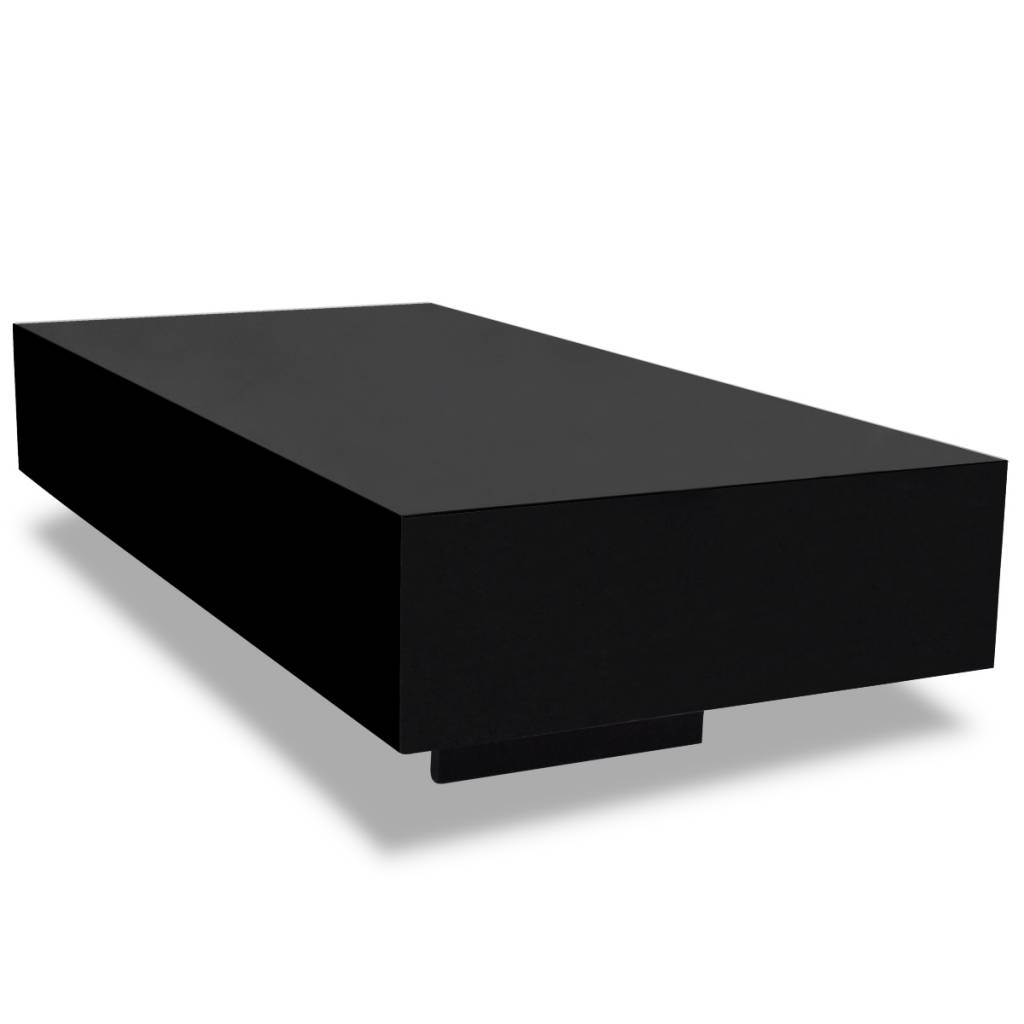 Vidaxl.co.uk | Black High Gloss Coffee Table 115 Cm in High Gloss Coffee Tables (Image 28 of 30)