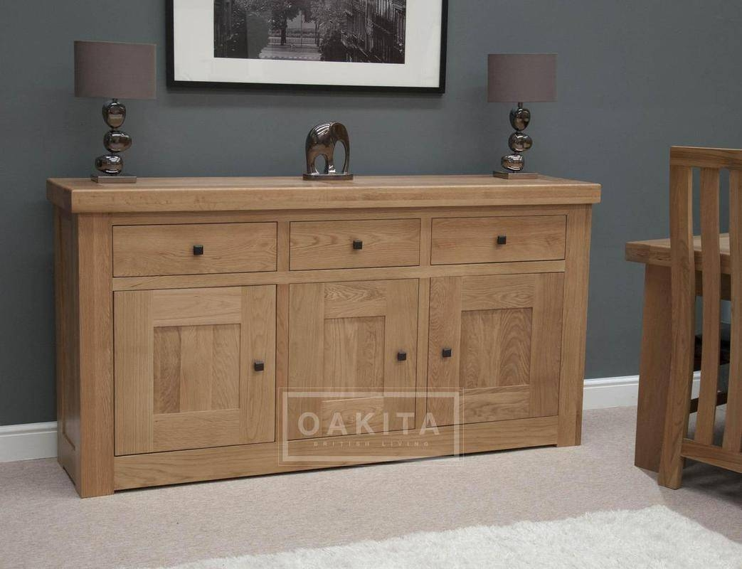 Vienna Large Light Oak Sideboard - Oak Sideboards - Oak Furniture intended for Oak Sideboards (Image 26 of 30)