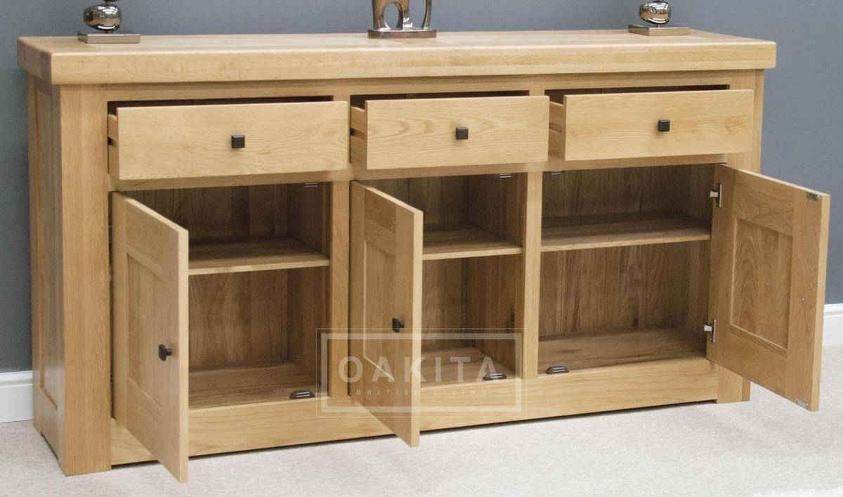 Vienna Large Light Oak Sideboard - Oak Sideboards - Oak Furniture regarding Light Oak Sideboards (Image 27 of 30)