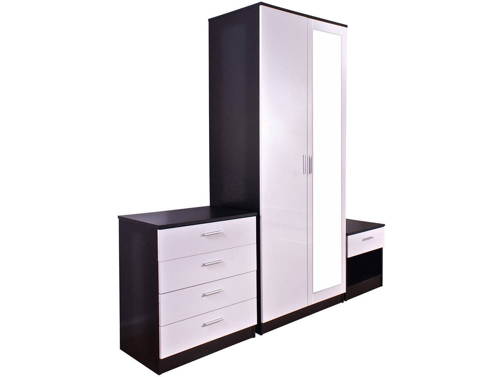 Village Interiors Online Furniture Warehouse with regard to Black And White Wardrobes Set (Image 13 of 15)