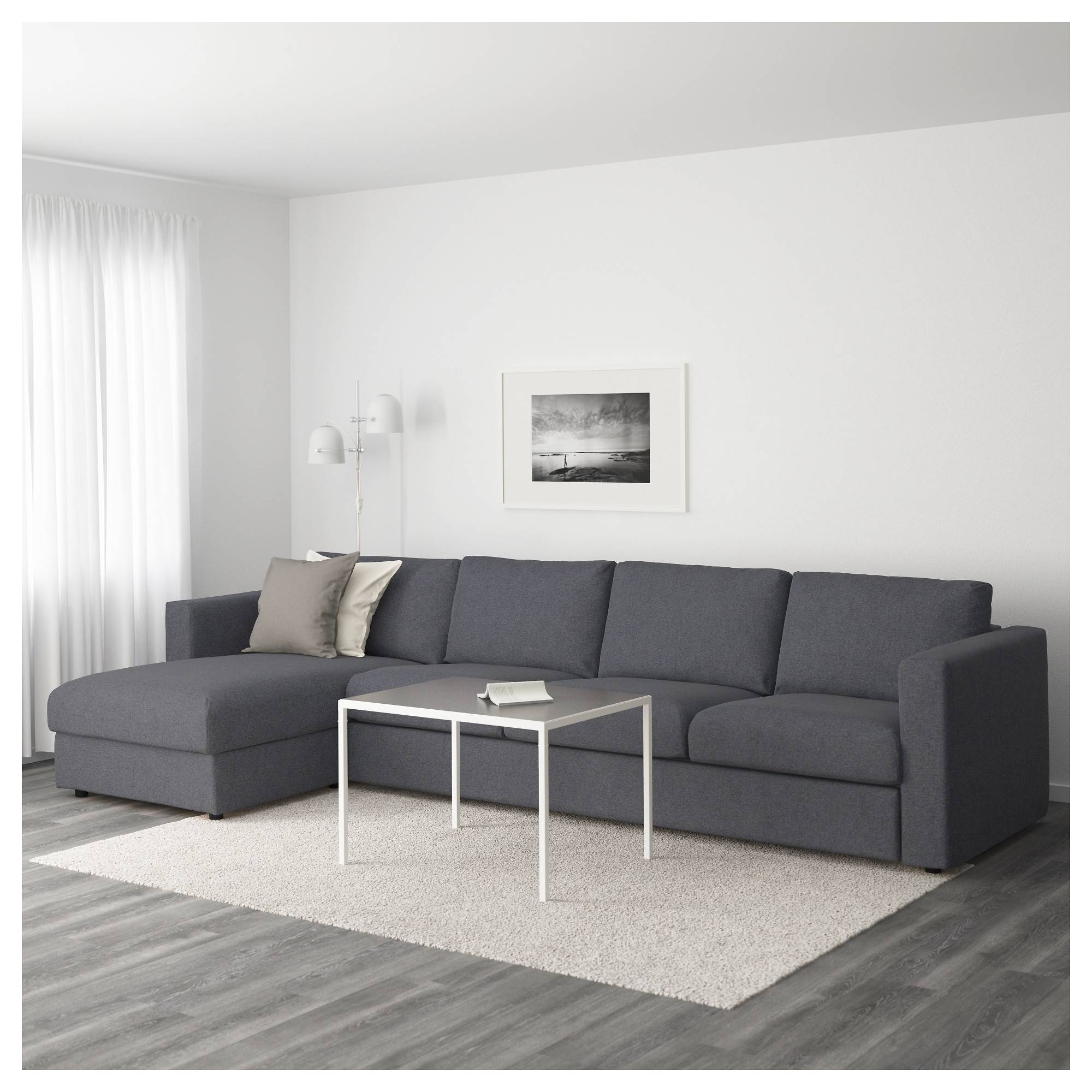 Vimle 4-Seat Sofa With Chaise Longue/gunnared Medium Grey - Ikea regarding 4 Seat Couch (Image 30 of 30)
