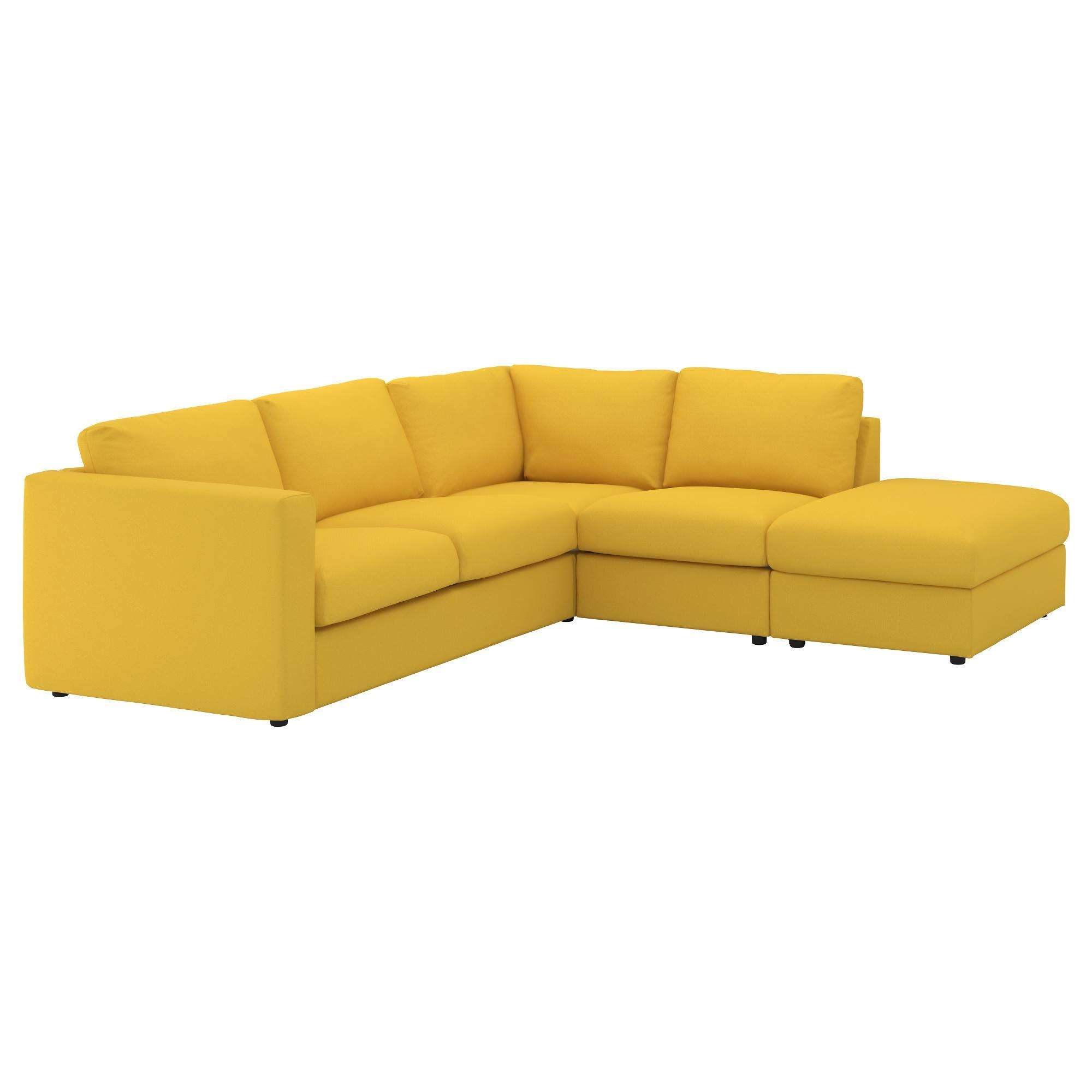 Vimle Corner Sofa, 4-Seat With Open End/gräsbo Golden-Yellow - Ikea inside Orange Ikea Sofas (Image 29 of 30)