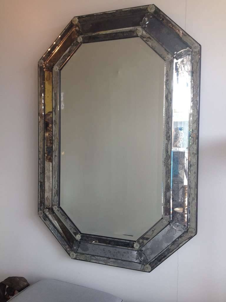 Vintage Antique Venetian Octagon Mirror For Sale At 1Stdibs for Antique Venetian Mirrors (Image 25 of 25)