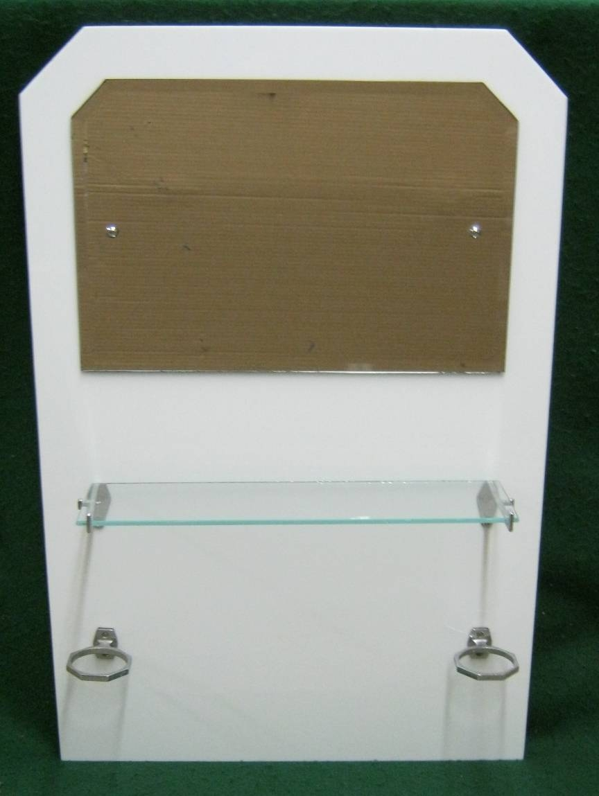 Vintage Art Deco Set Bathroom Mirror Shelf Cup Holder #1345-13 with regard to Original Art Deco Mirrors (Image 23 of 25)