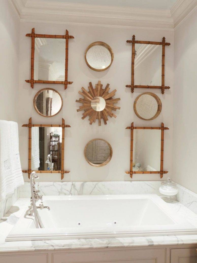 Vintage Bathroom Wall Decor Stylish Modern Clear Glass Shower Room In Big Vintage Mirrors (View 24 of 25)
