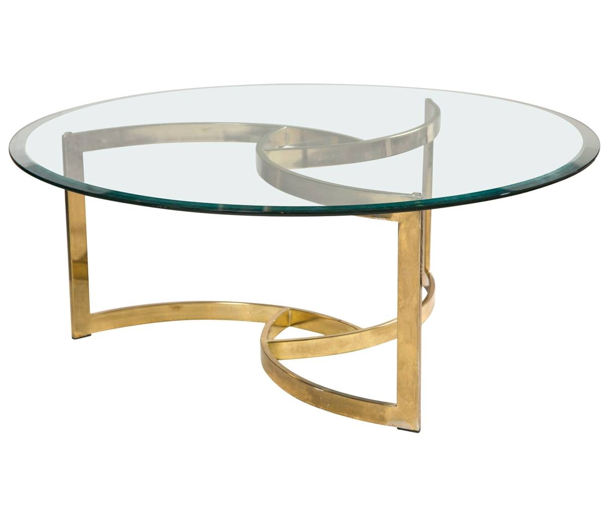 Vintage Brass And Glass Coffee Table throughout Vintage Glass Coffee Tables (Image 16 of 30)