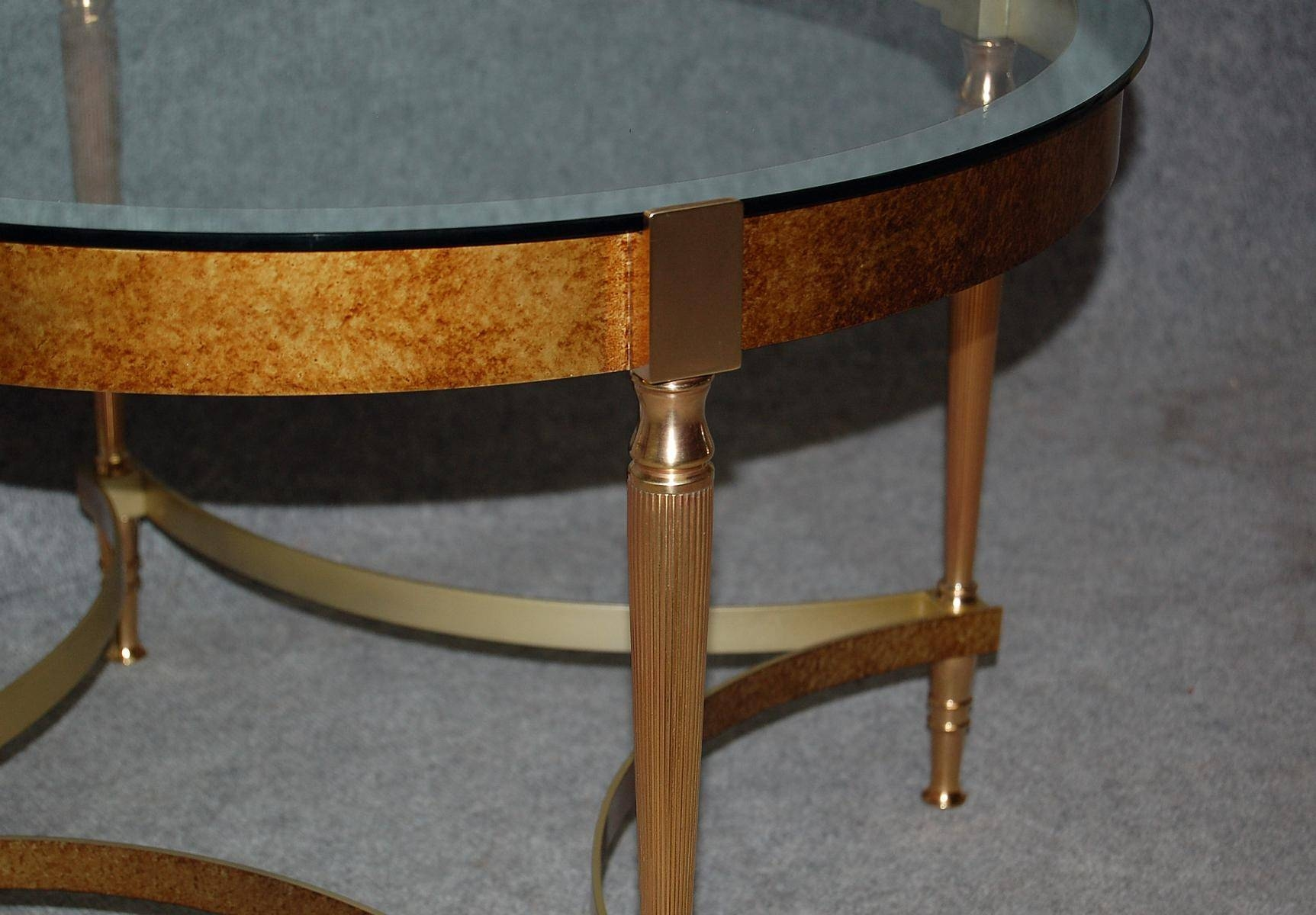 Vintage Bronze Coffee Table With Glass Top For Sale At Pamono in Bronze Coffee Table Glass Top (Image 25 of 30)