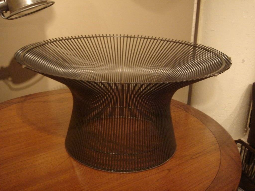 Vintage Bronze Coffee Tablewarren Platner For Knoll For Sale throughout Bronze Coffee Tables (Image 29 of 30)