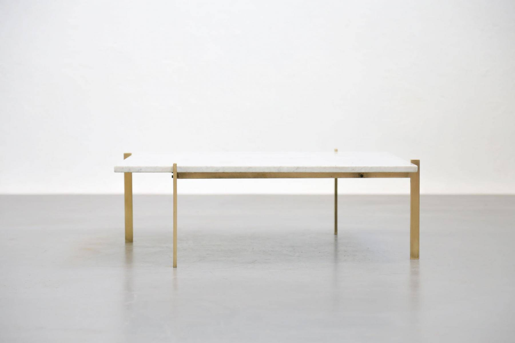 Vintage Coffee Table In Marble & Brass For Sale At Pamono with White Retro Coffee Tables (Image 25 of 30)