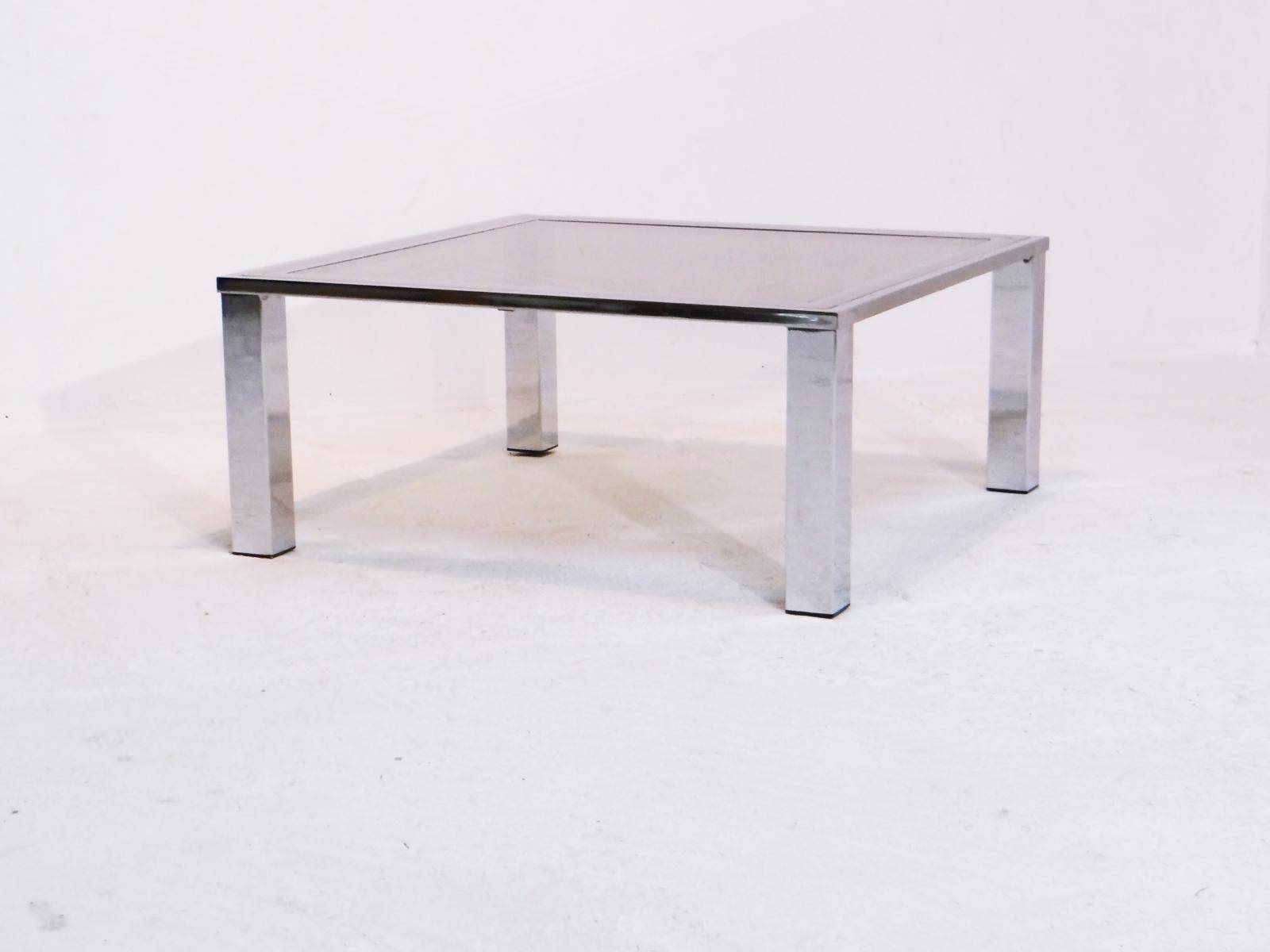 Vintage Coffee Table With Smoked Glass Top For Sale At Pamono with White Retro Coffee Tables (Image 27 of 30)