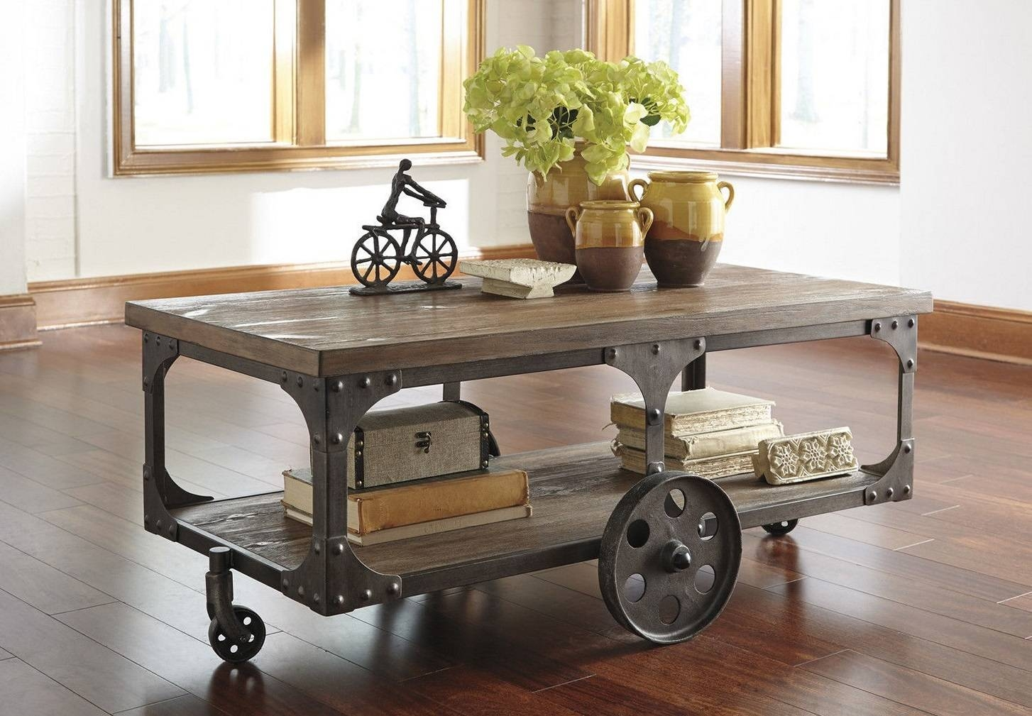 Vintage Coffee Table With Wheels - Amazing Home Design with Wheels Coffee Tables (Image 28 of 30)