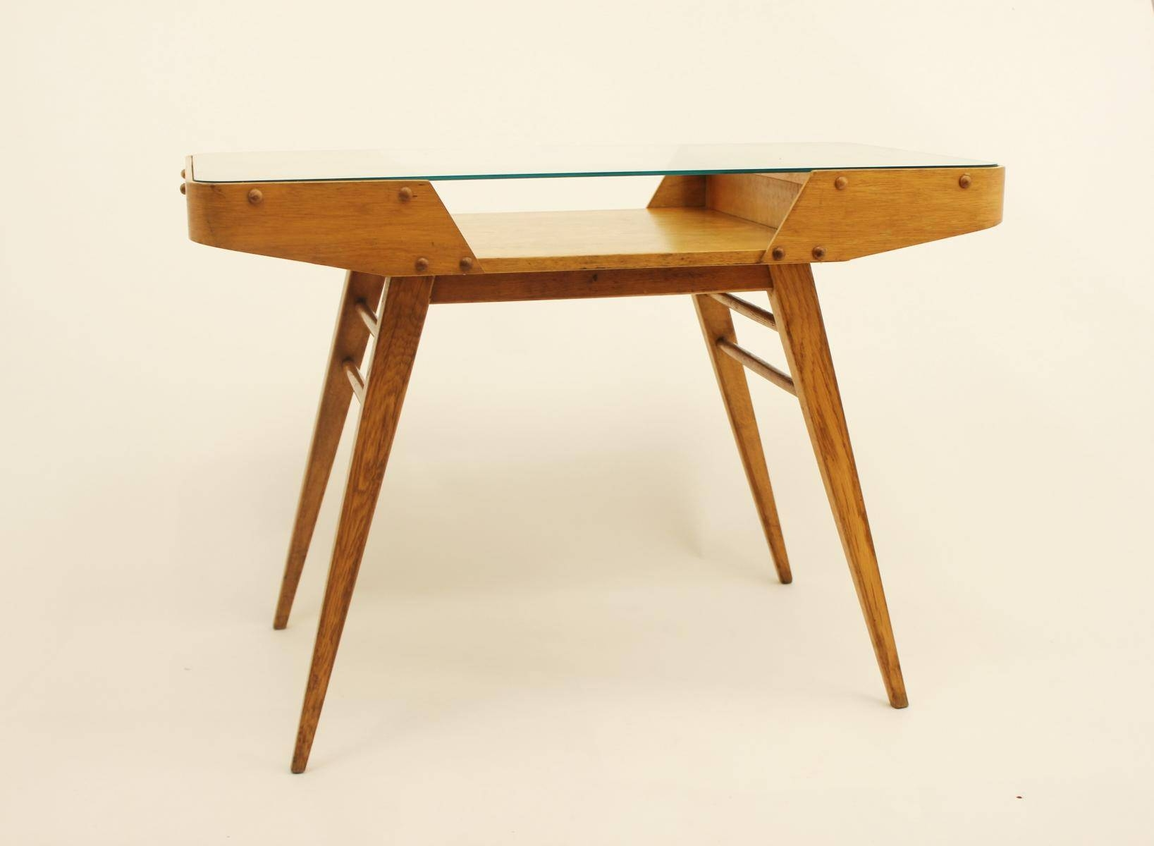 Vintage Czechoslovakian Oak Coffee Table With Glass Top, 1960S For with regard to Glass And Oak Coffee Tables (Image 29 of 30)