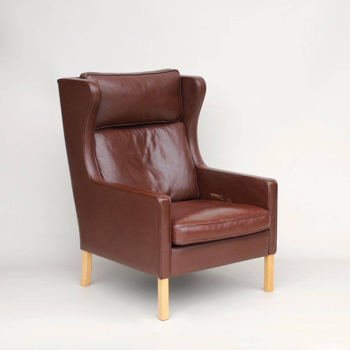 Vintage Danish Leather Wing Armchair From Stouby For Sale At Pamono inside Vintage Leather Armchairs (Image 18 of 30)