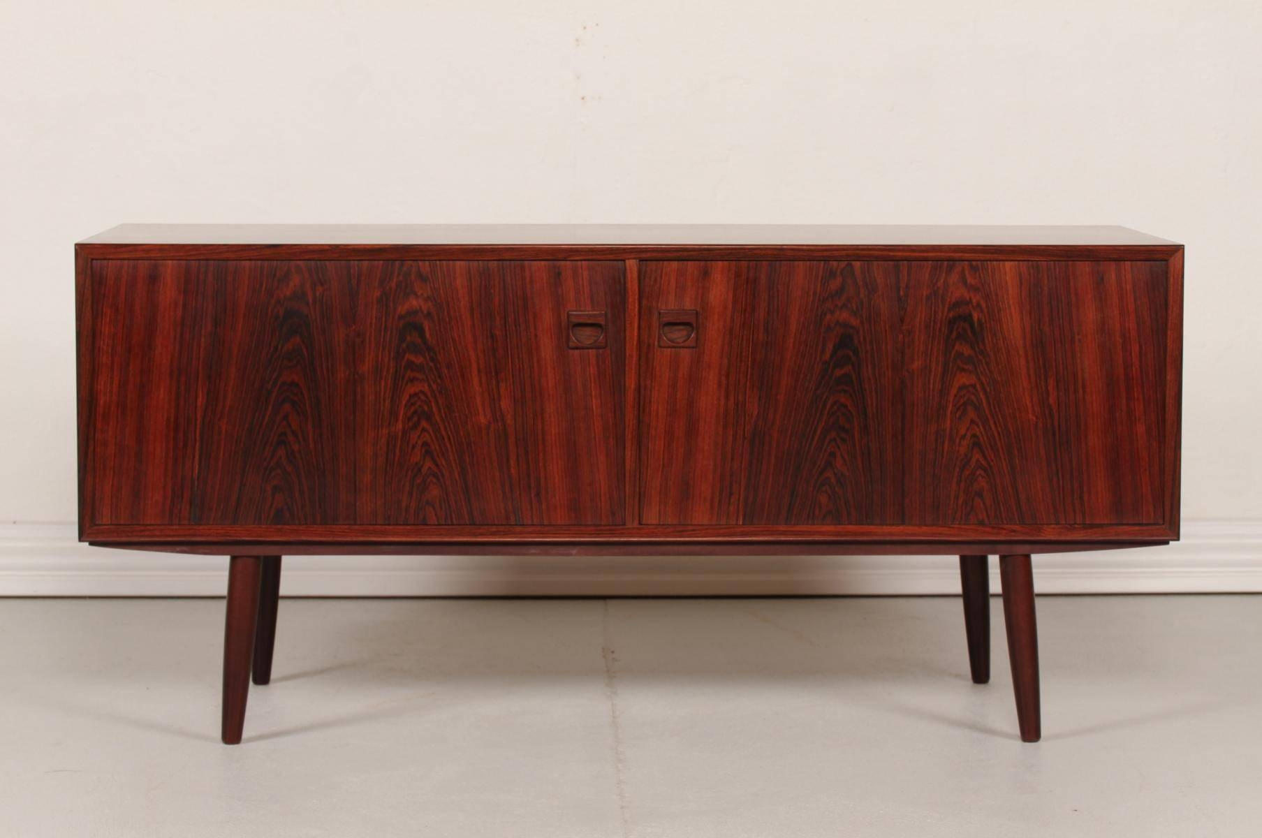 Vintage Danish Low Rosewood Sideboard, 1970S For Sale At Pamono intended for Low Sideboards (Image 27 of 30)