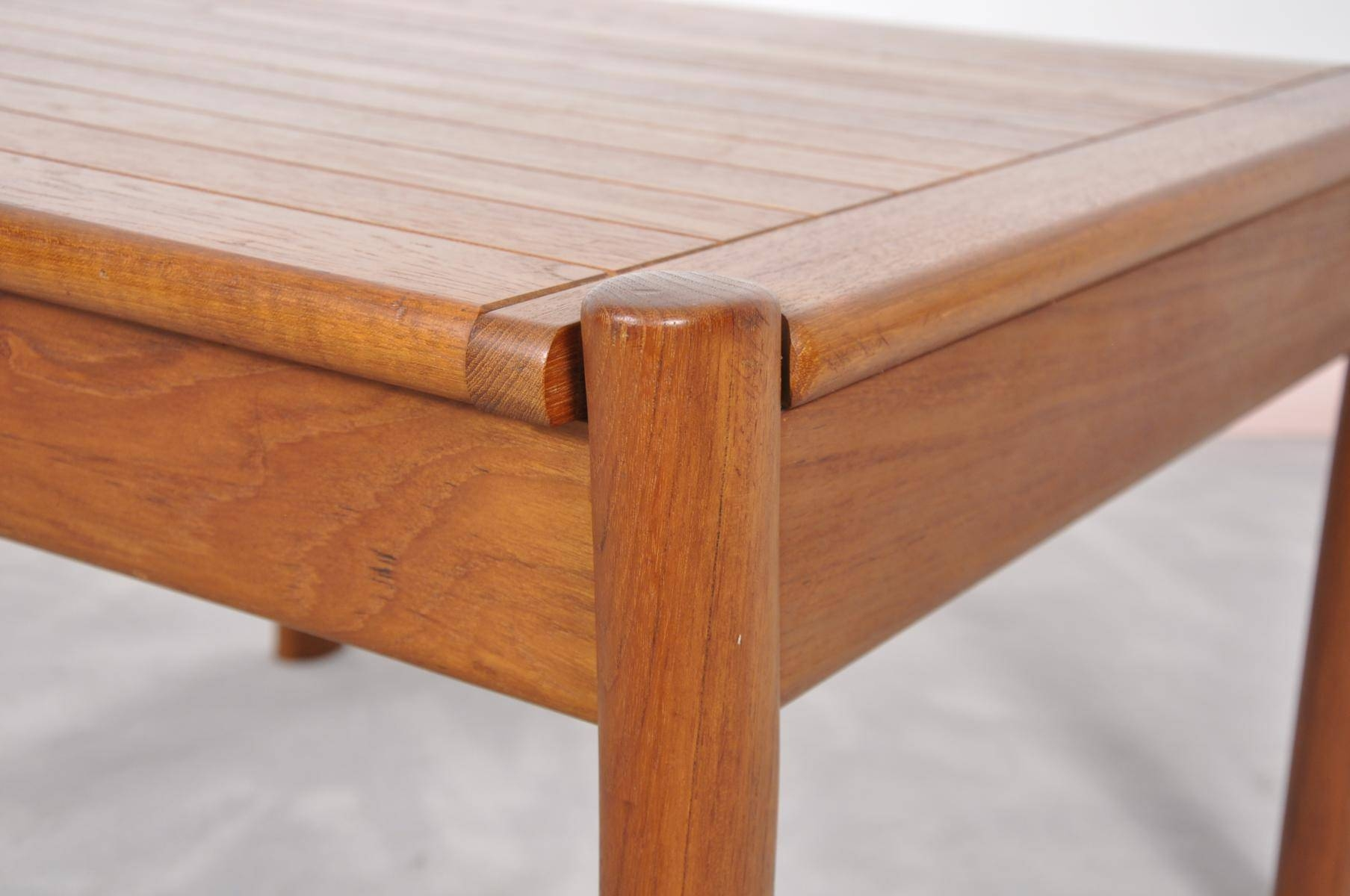 Vintage Danish Teak Coffee Table With Rounded Edges For Sale At Pamono throughout Coffee Tables With Rounded Corners (Image 26 of 30)