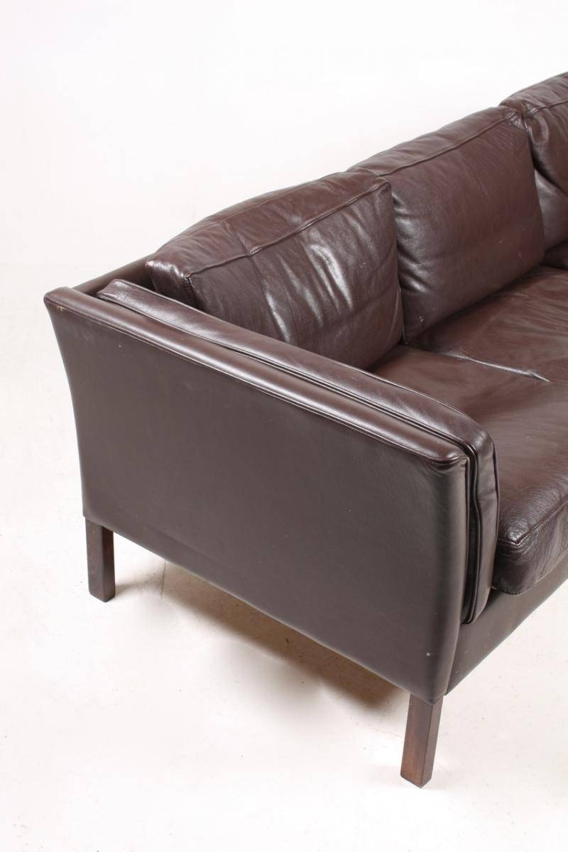 Vintage Danish Three-Seater Leather Sofa, 1980S For Sale At Pamono within 4 Seat Leather Sofas (Image 27 of 30)
