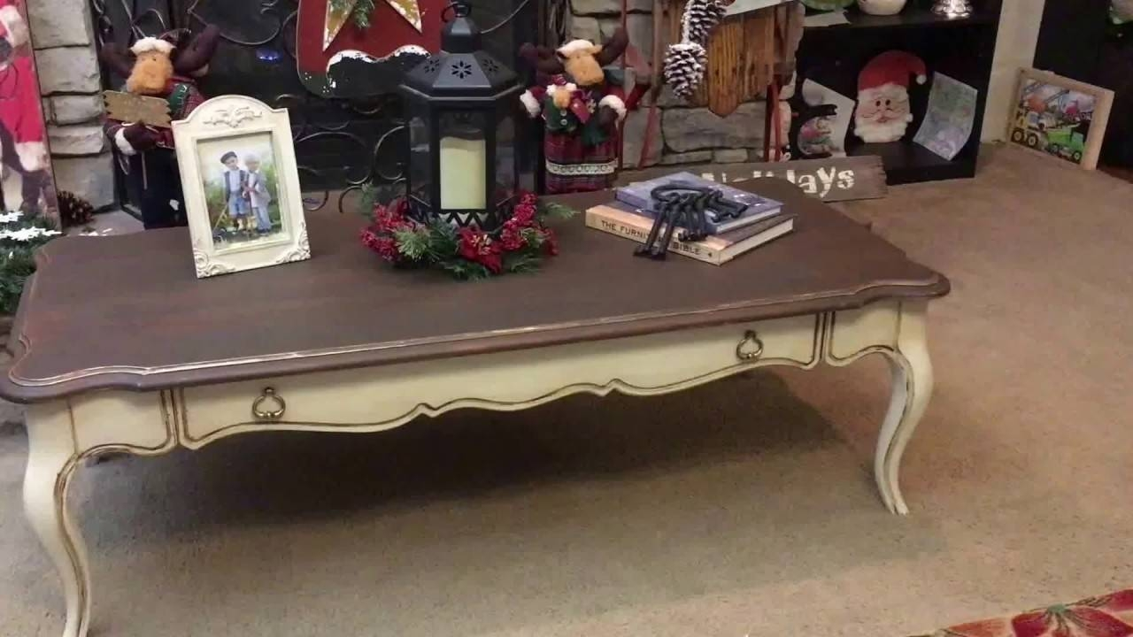 Vintage Distressed French Country Coffee Table - Youtube with French Country Coffee Tables (Image 30 of 30)