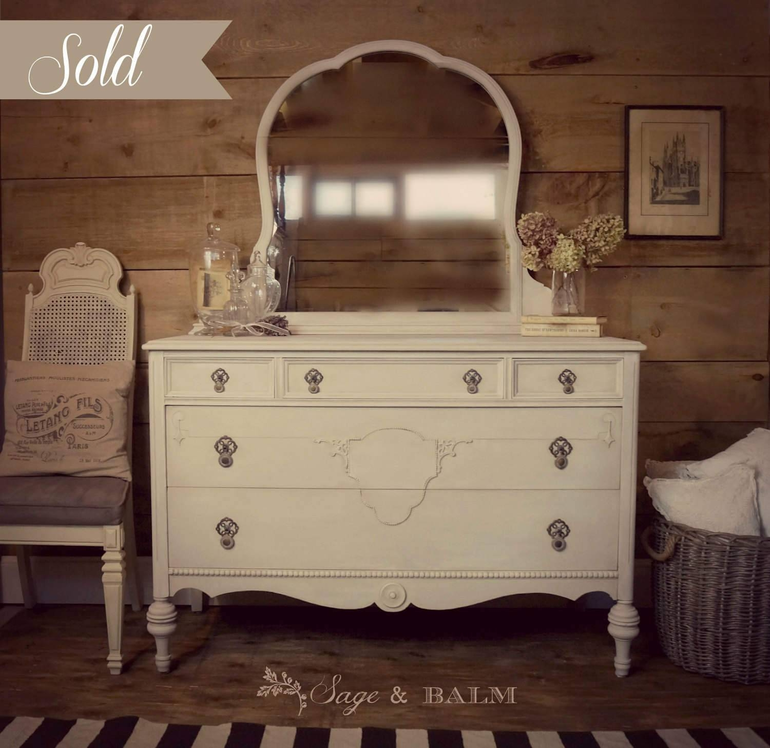 Vintage Dressers With Mirrors 31 Cute Interior And Mirror in Antique Cream Mirrors (Image 23 of 25)