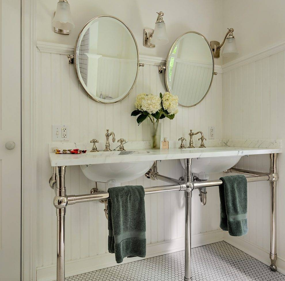 Vintage Floor Mirrors Bathroom Contemporary With Caesar Stone intended for Chrome Floor Mirrors (Image 24 of 25)