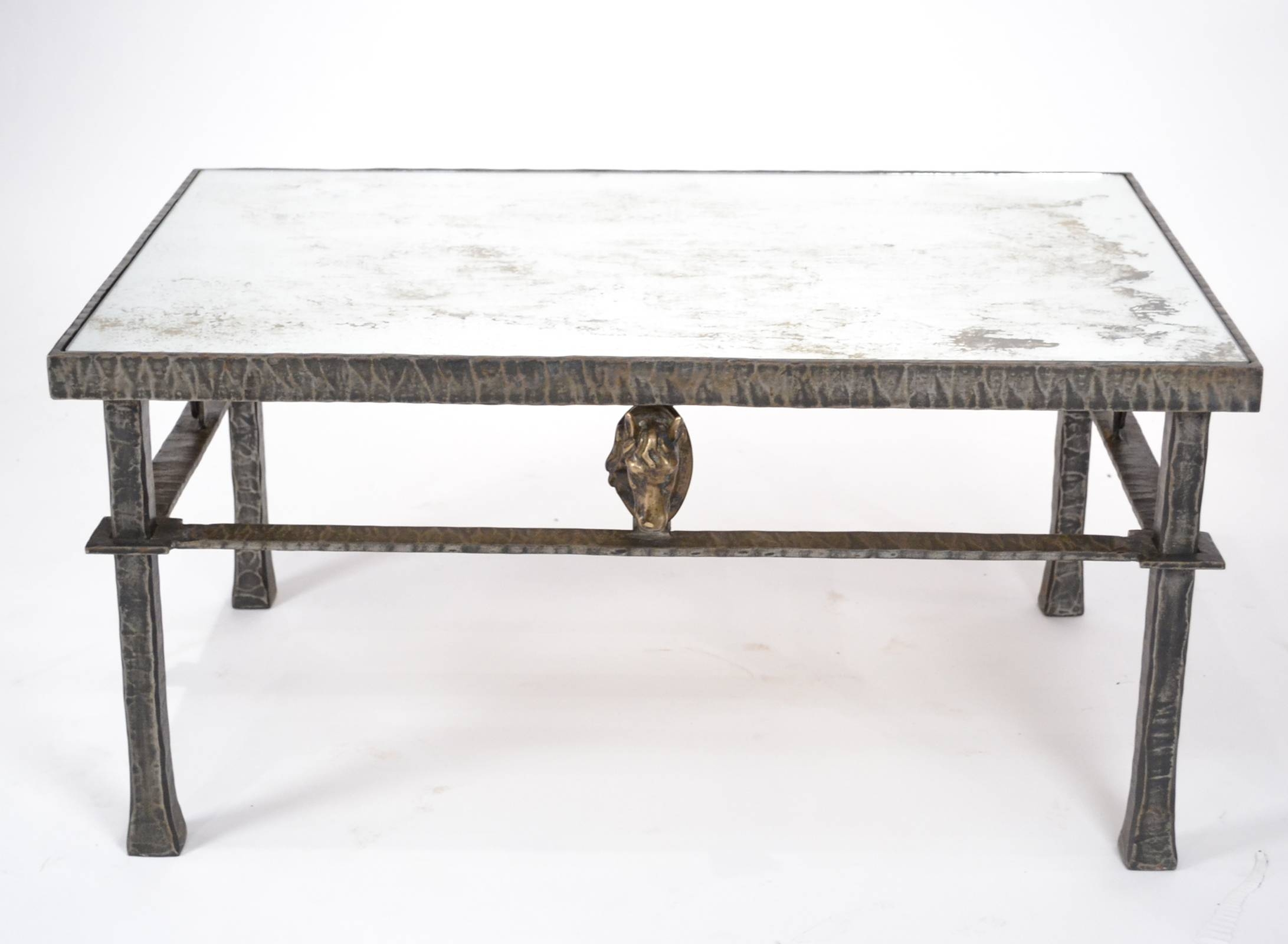 Vintage Forged Iron & Bronze Coffee Table - Jean Marc Fray pertaining to Bronze Coffee Tables (Image 30 of 30)