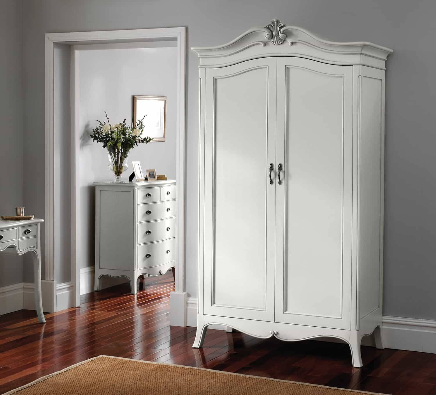 white wood wardrobe armoire shabby chic bedroom. Vintage French Armoire, Shabby Chic, White Inside Chic Wardrobes (Image 15 Wood Wardrobe Armoire Bedroom S