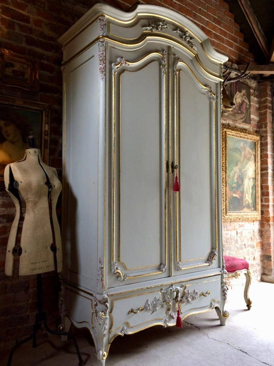 Vintage French Armoire Wardrobe With Mirror For Sale At Pamono for French Armoire Wardrobes (Image 14 of 15)