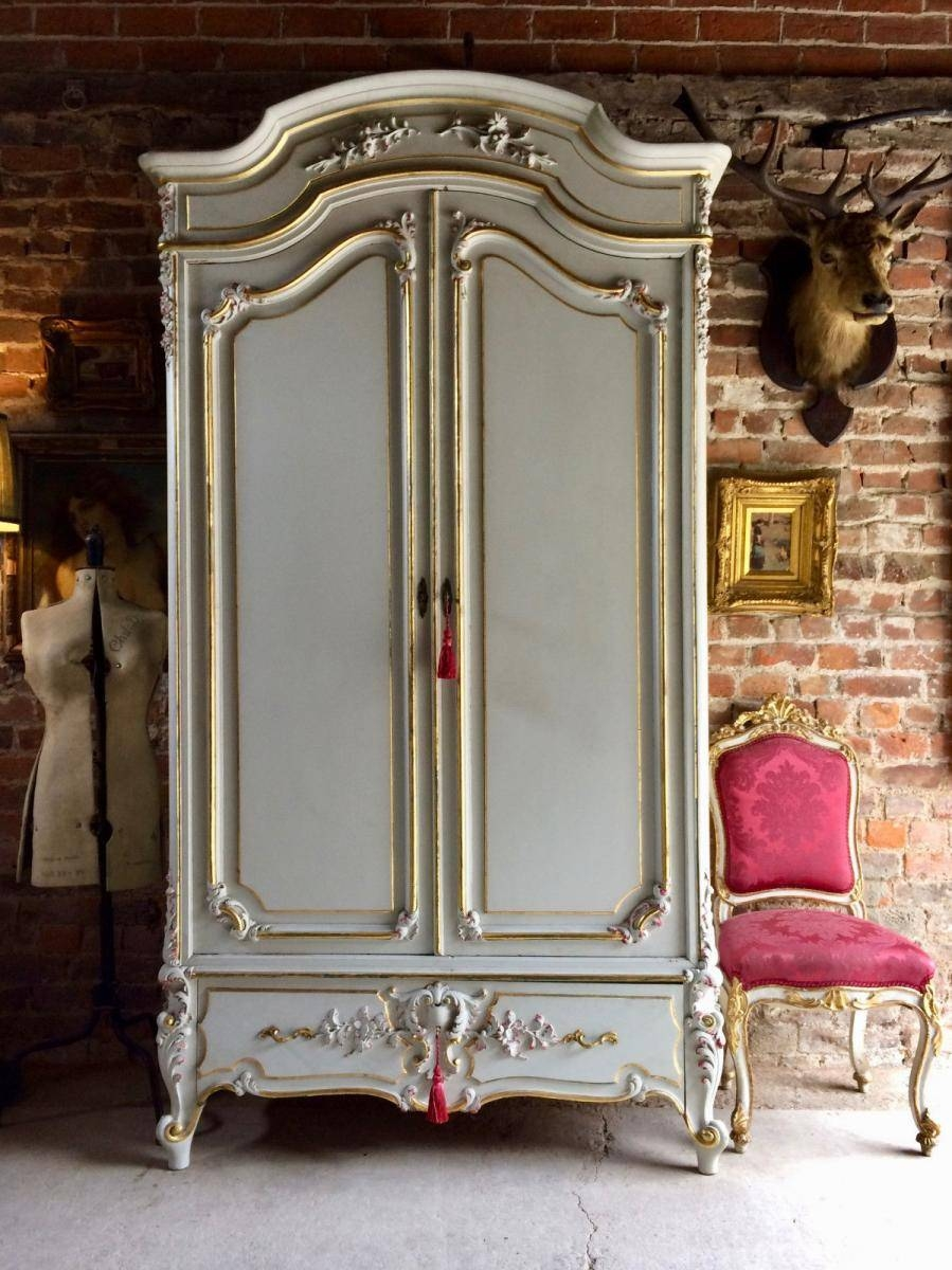 Vintage French Armoire Wardrobe With Mirror For Sale At Pamono within Antique French Wardrobes (Image 15 of 15)