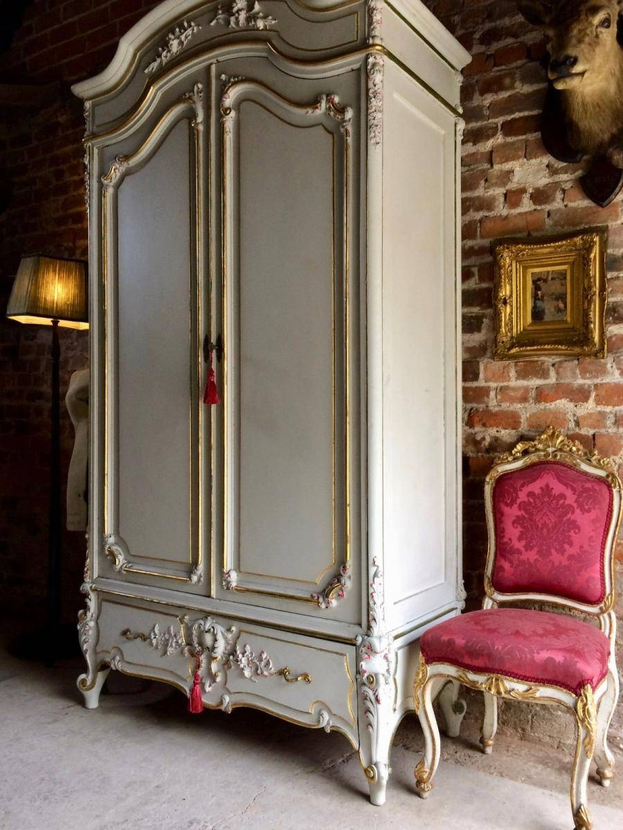 Vintage French Armoire Wardrobe With Mirror For Sale At Pamono within Vintage French Wardrobes (Image 14 of 15)