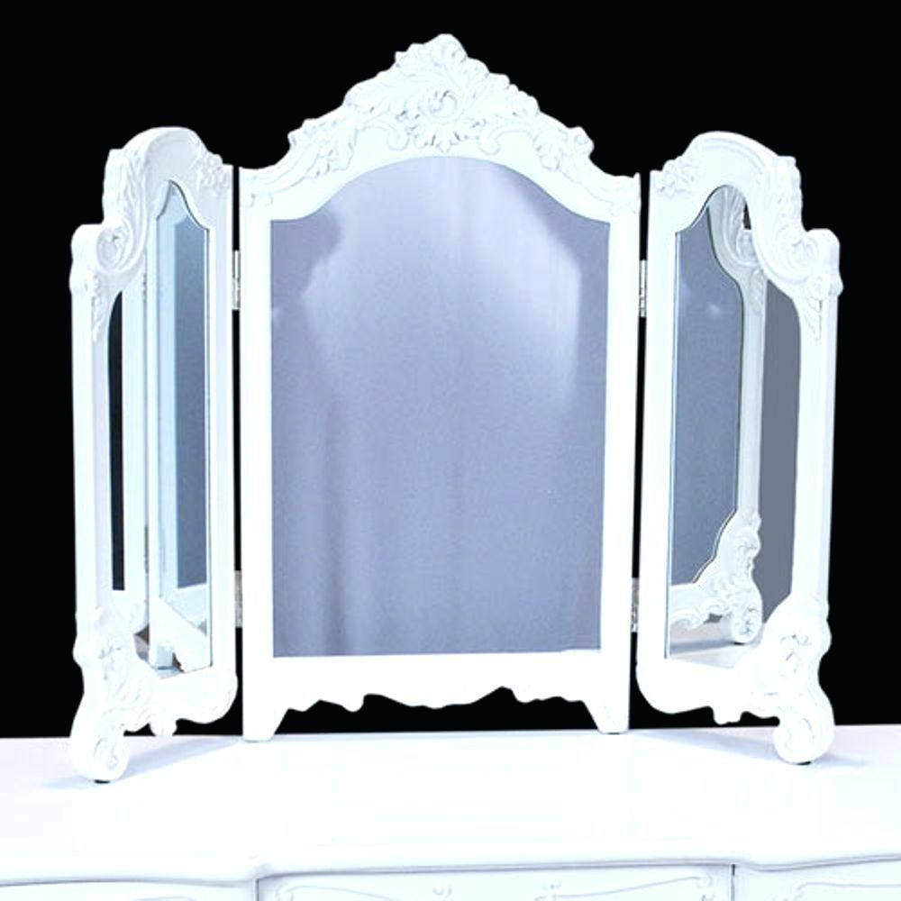 Vintage French Louis Style Chelsea Triple Cream And Gold Dressing throughout White Shabby Chic Mirrors Sale (Image 24 of 25)