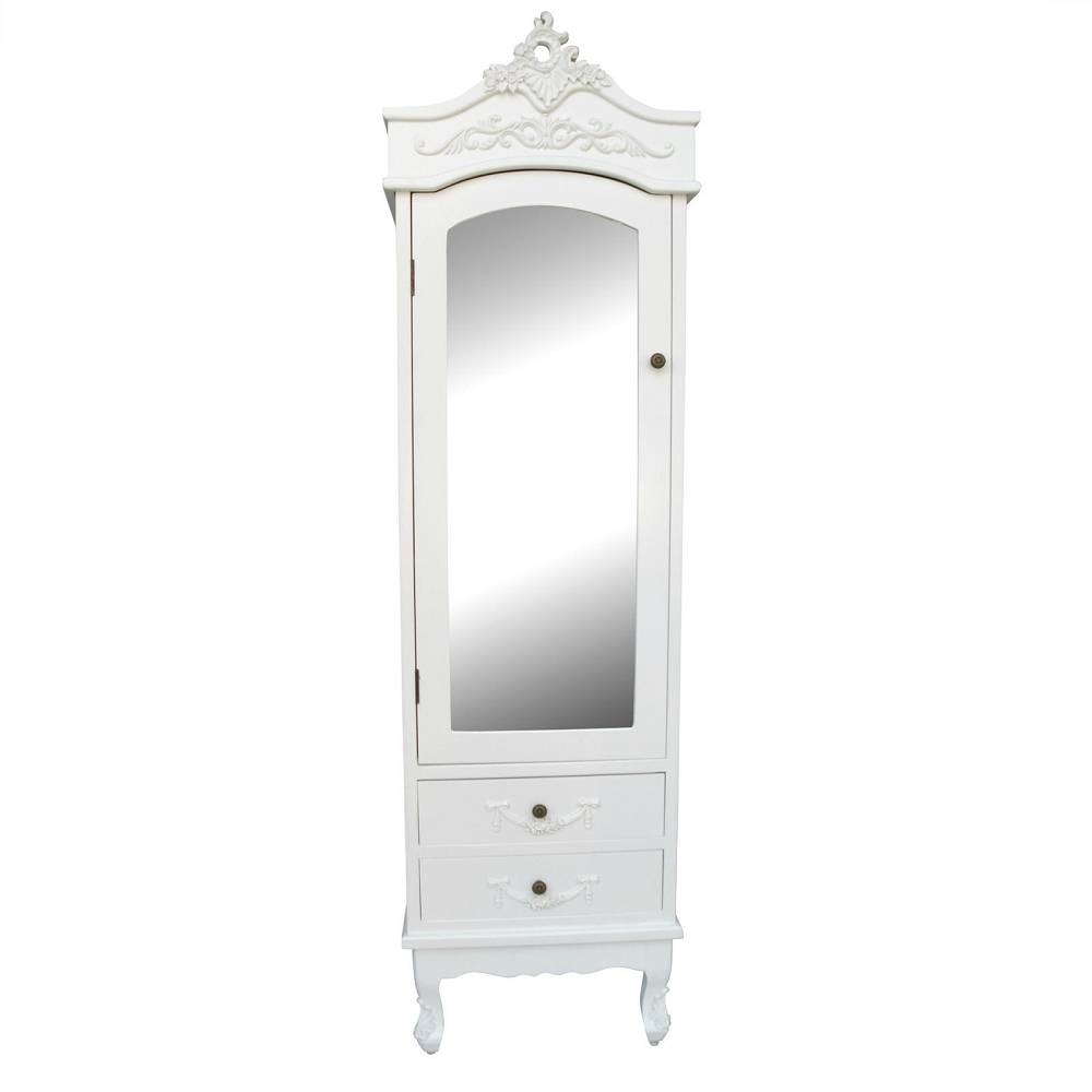 Vintage French Mirrored Wardrobe regarding Cream French Wardrobes (Image 14 of 15)