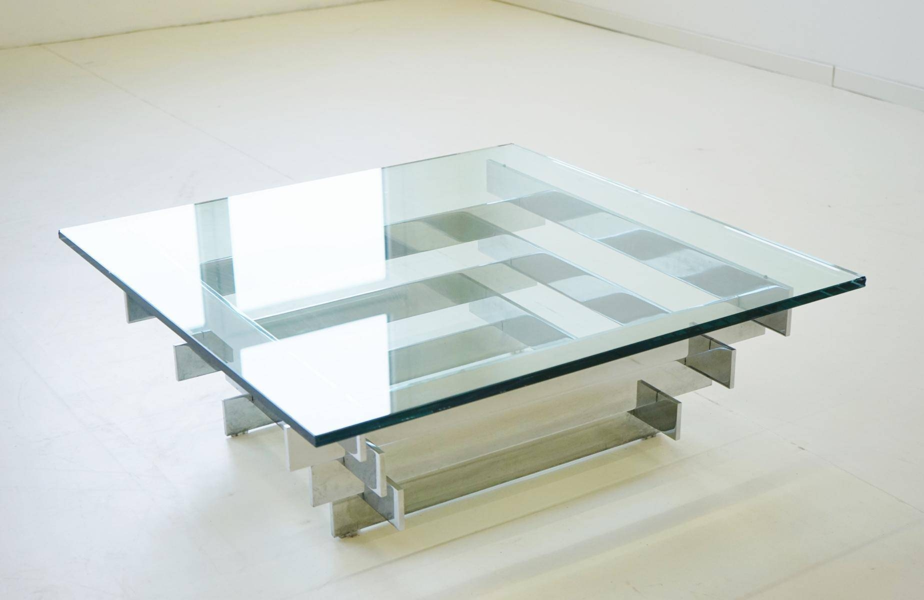 Vintage Glass & Chrome Coffee Tablezaruch For Sale At Pamono throughout Rectangle Glass Chrome Coffee Tables (Image 29 of 30)