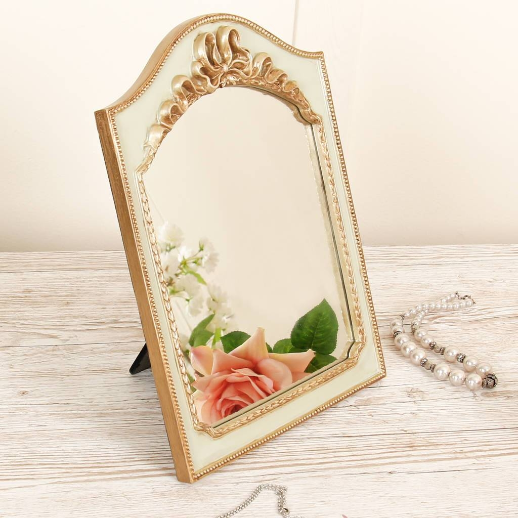 Vintage Gold Arched Table Mirrordibor | Notonthehighstreet within Gold Table Mirrors (Image 23 of 25)
