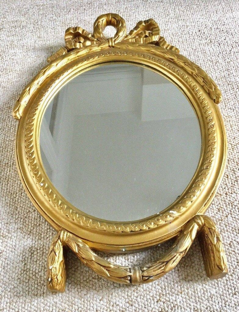 Vintage Gold Framed Wall Mirror, Plaster Frame, Oval, Shabby Chic within Oval Shabby Chic Mirrors (Image 23 of 25)