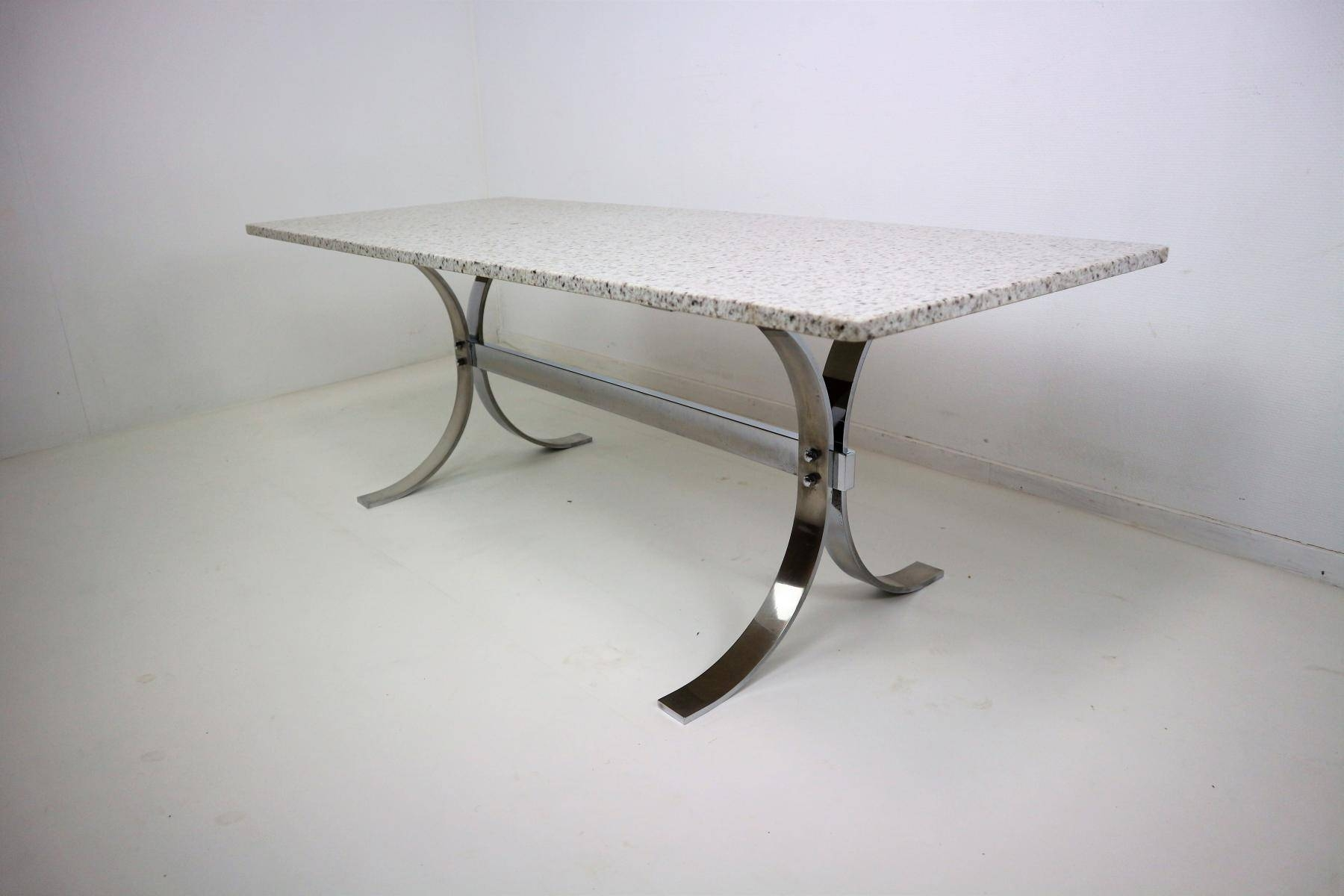 Vintage Granite & Chrome Coffee Table For Sale At Pamono for Chrome Coffee Tables (Image 29 of 30)
