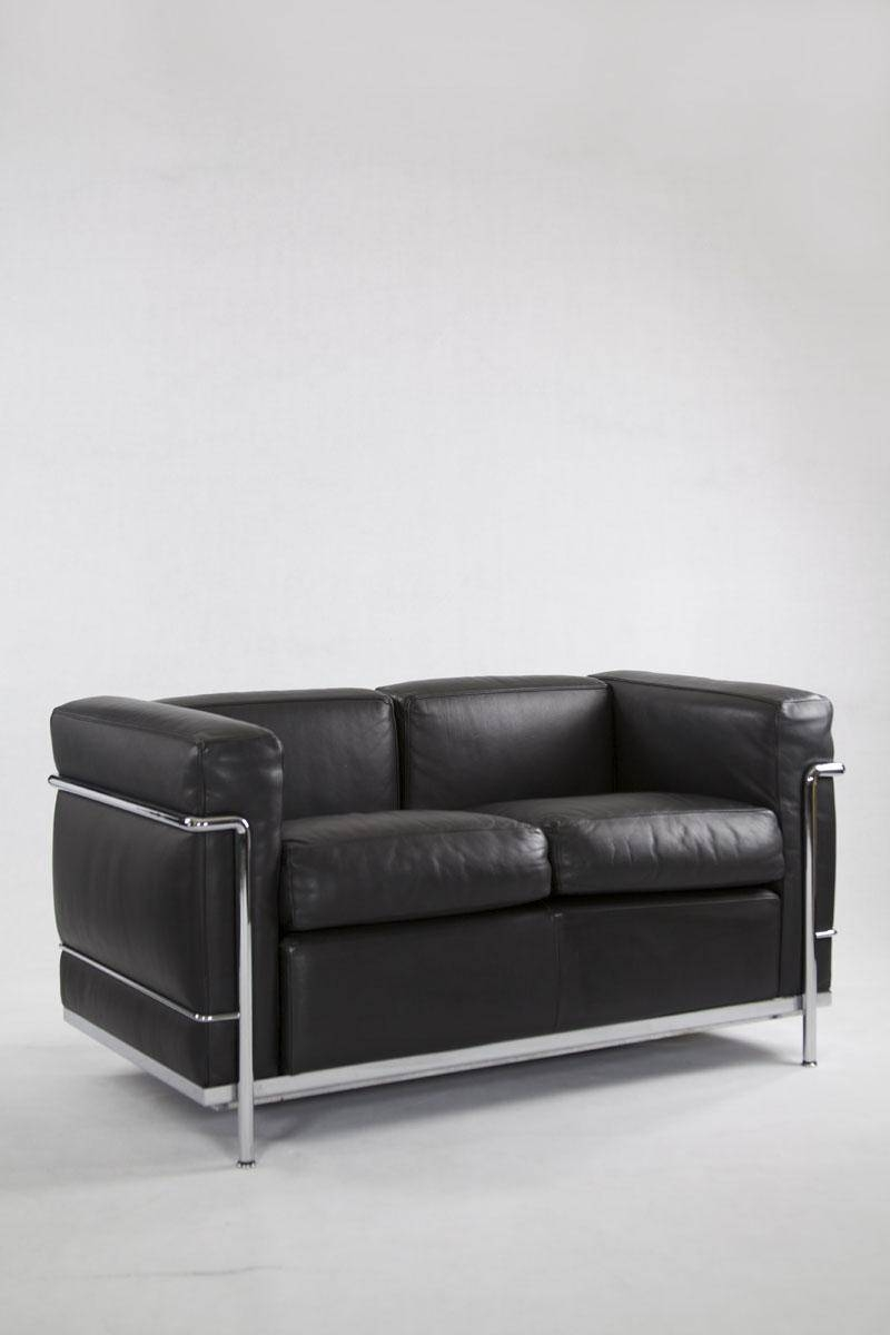 Vintage Ic2 Two-Seater Leather Sofa From Cassina For Sale At Pamono with regard to 4 Seat Leather Sofas (Image 28 of 30)