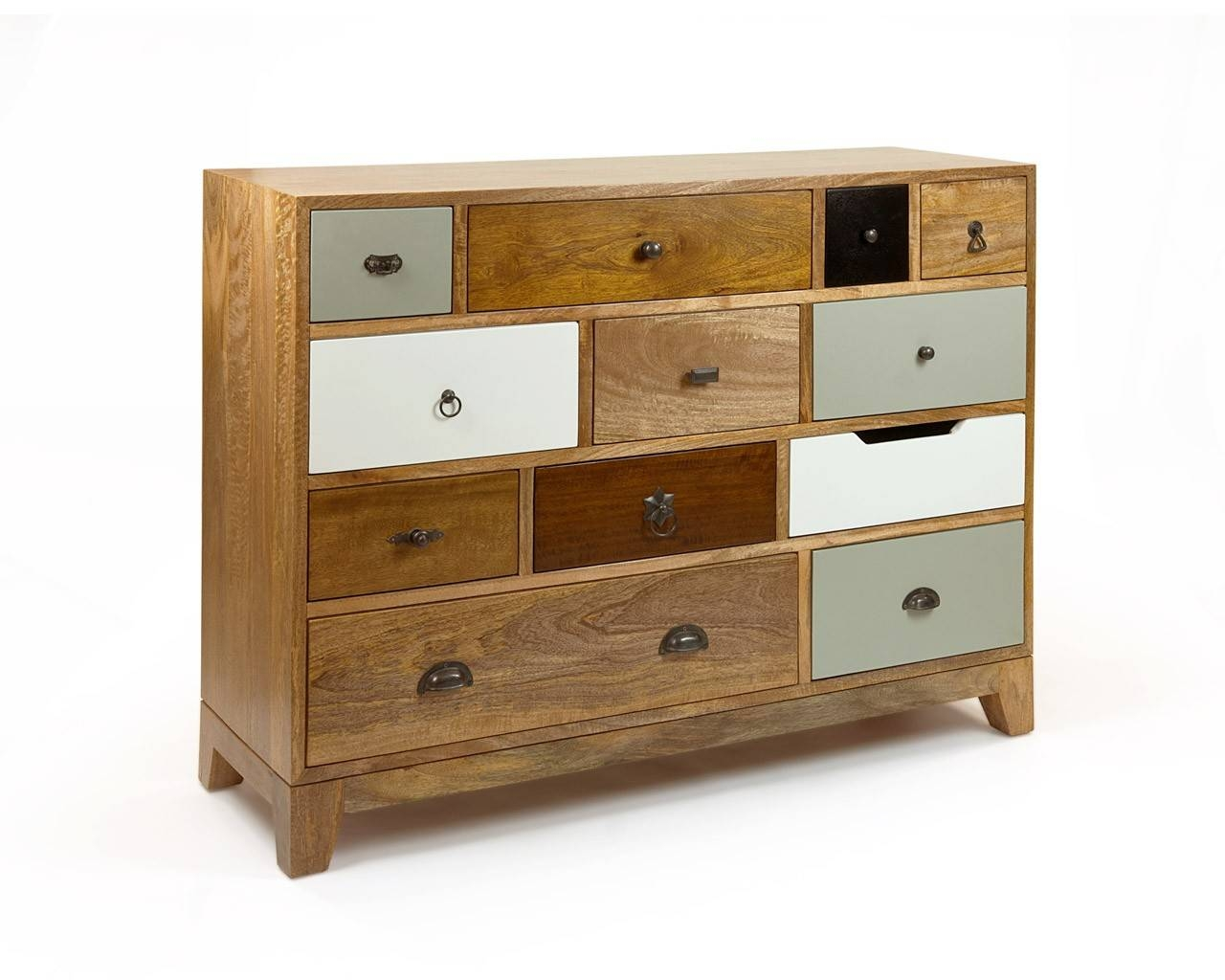 Vintage Inspired Chest Of Drawers - Multicoloured Wooden Chests in Multi Drawer Sideboards (Image 29 of 30)