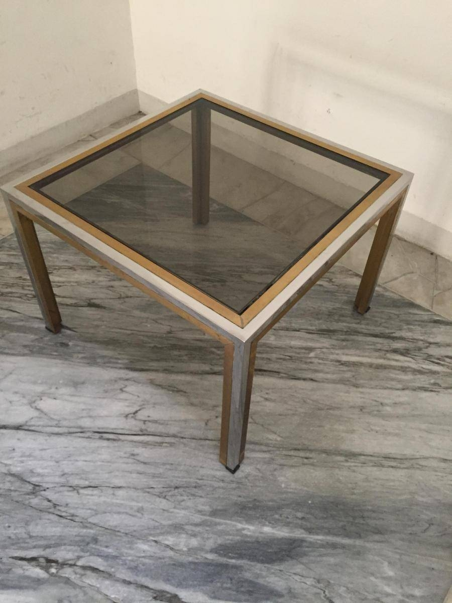Vintage Italian Brass Glass Coffee Table 1960s For Sale At Pam In Retro Smoked Glass Coffee Tables (View 5 of 30)