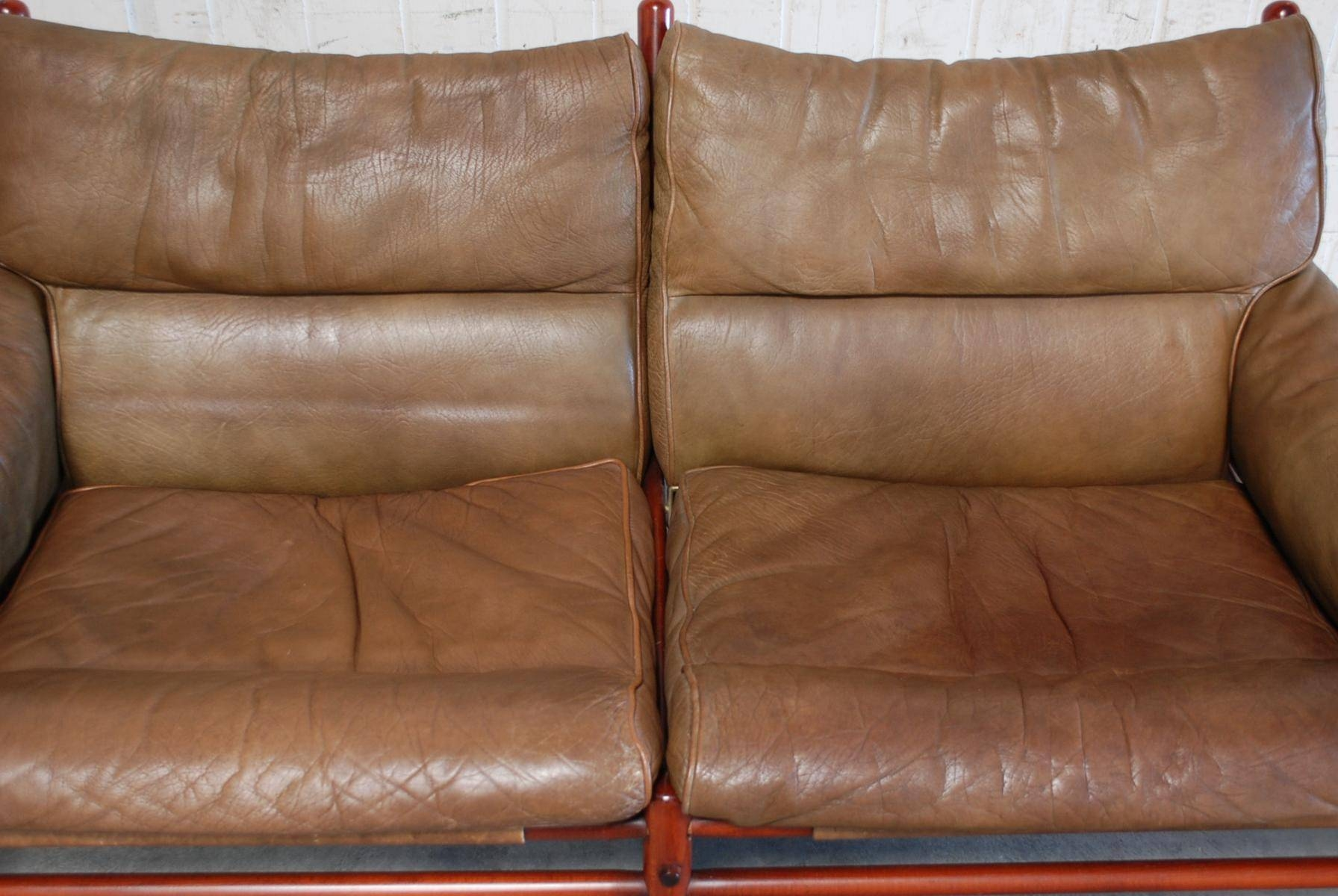 Vintage Kontiki 2 Seater Leather Sofaarne Norell For Sale At In 4 Seat Leather Sofas (View 20 of 30)