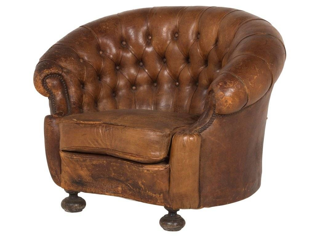 Vintage Leather Club Chair At 1Stdibs inside Vintage Leather Armchairs (Image 23 of 30)