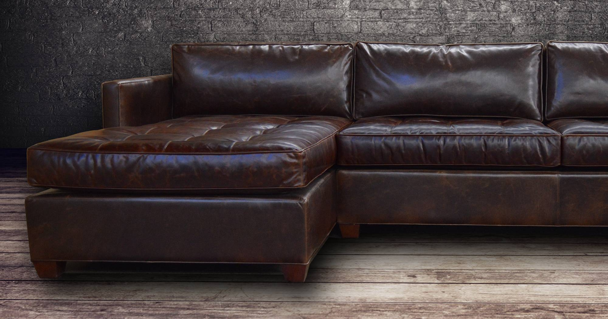 Vintage Leather Sectional Sofa - Cleanupflorida with regard to Vintage Leather Sectional Sofas (Image 28 of 30)