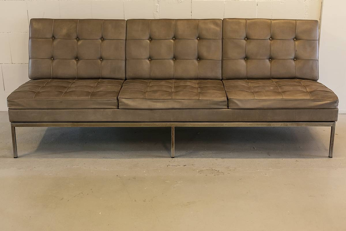 Vintage Leather Sofaflorence Knoll For Knoll, 1972 For Sale At in Florence Knoll Leather Sofas (Image 24 of 25)
