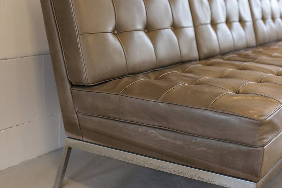 Vintage Leather Sofaflorence Knoll For Knoll, 1972 For Sale At regarding Florence Leather Sofas (Image 30 of 30)