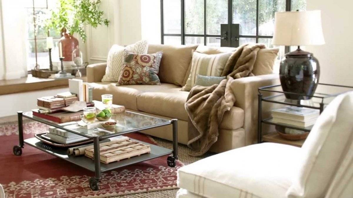 Vintage Living Room With Pottery Barn Performance Suede Fabric For Antique Glass Pottery Barn Coffee Tables (View 22 of 30)