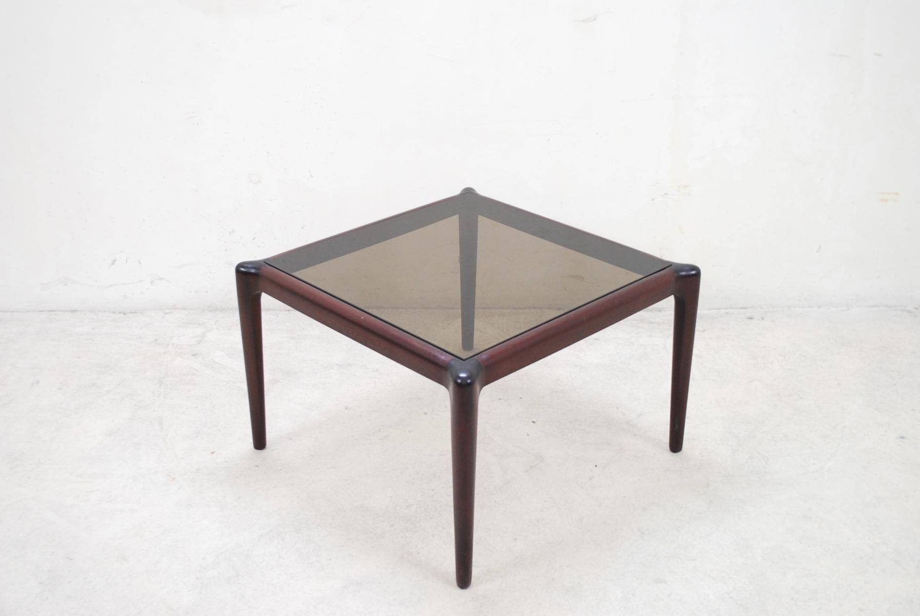 Vintage Mahogony & Smoked Glass Coffee Table For Sale At Pamono pertaining to Vintage Glass Coffee Tables (Image 25 of 30)
