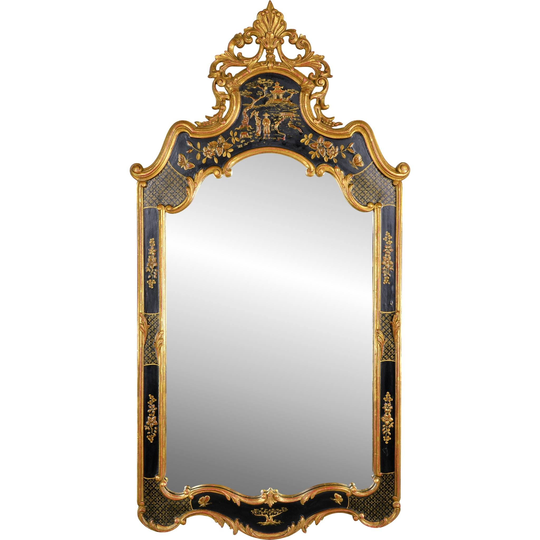 Vintage Mirror Fair Chinoiserie Mirror From Tolw On Ruby Lane with Antique Mirrors Vintage Mirrors (Image 25 of 25)