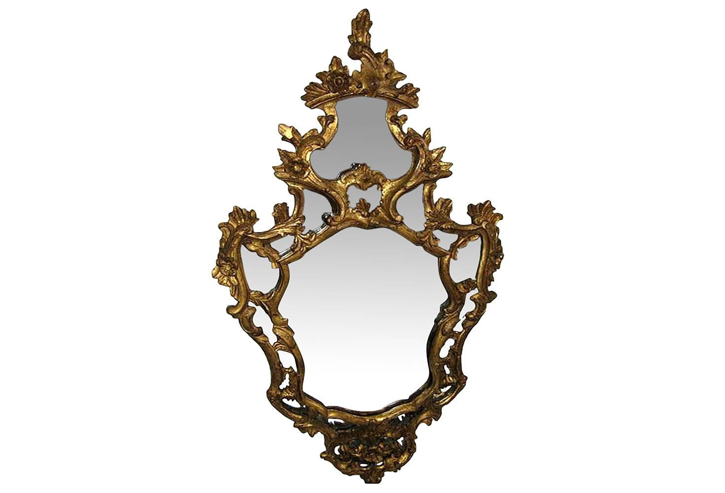Vintage Mirrors - Antique Mirrors | Omero Home with Gold Rococo Mirrors (Image 25 of 25)