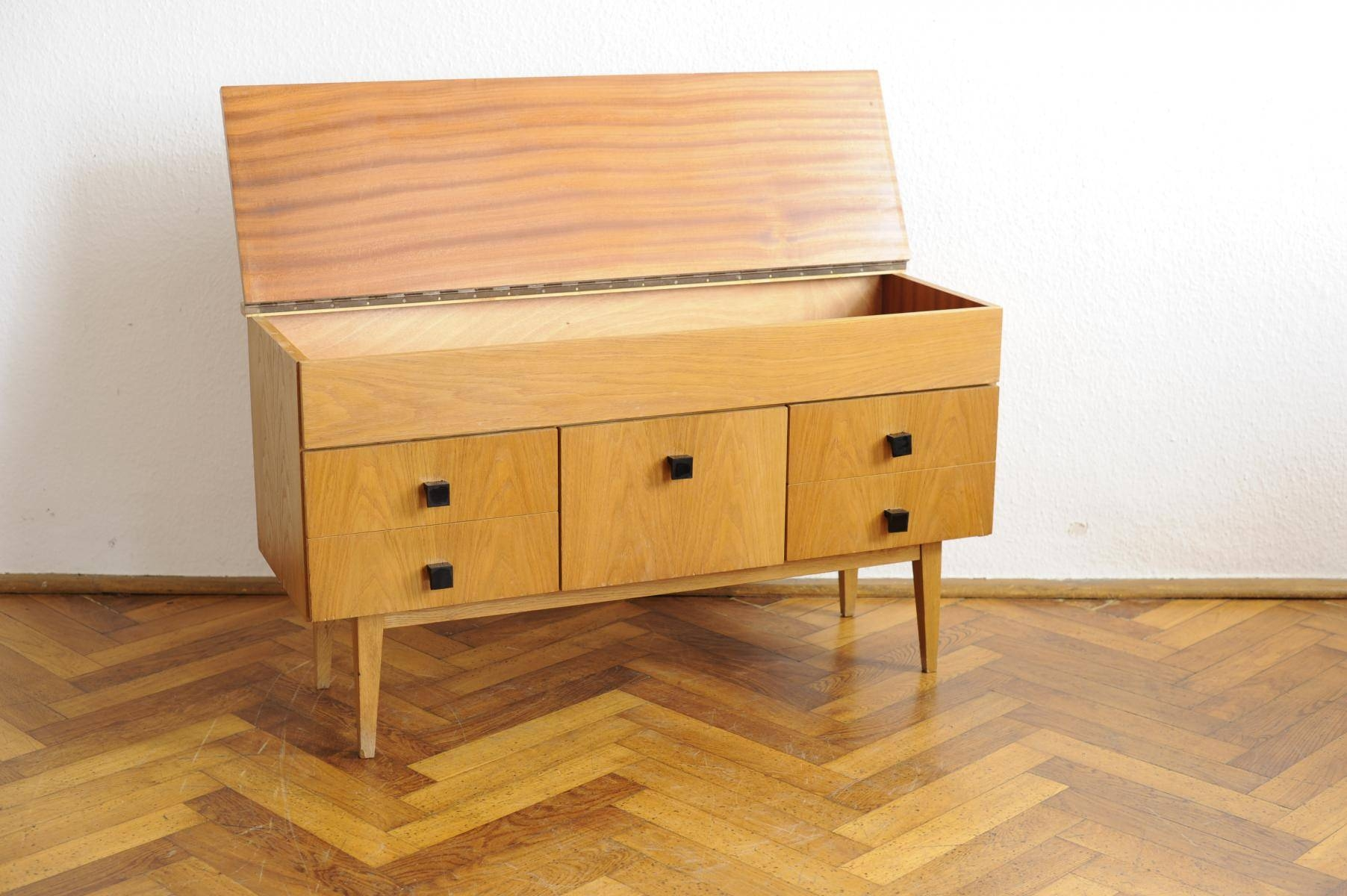 Vintage Modernist Sideboard With Beech Veneer For Sale At Pamono for Beech Sideboards (Image 27 of 30)