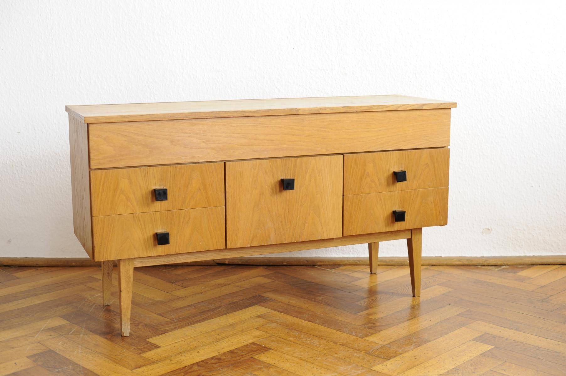 Vintage Modernist Sideboard With Beech Veneer For Sale At Pamono intended for Beech Sideboards (Image 28 of 30)