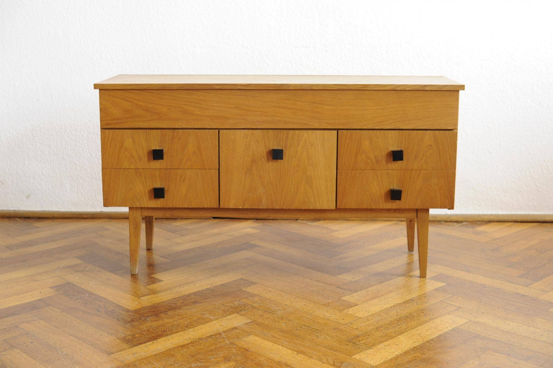 Vintage Modernist Sideboard With Beech Veneer For Sale At Pamono regarding Beech Sideboards (Image 29 of 30)