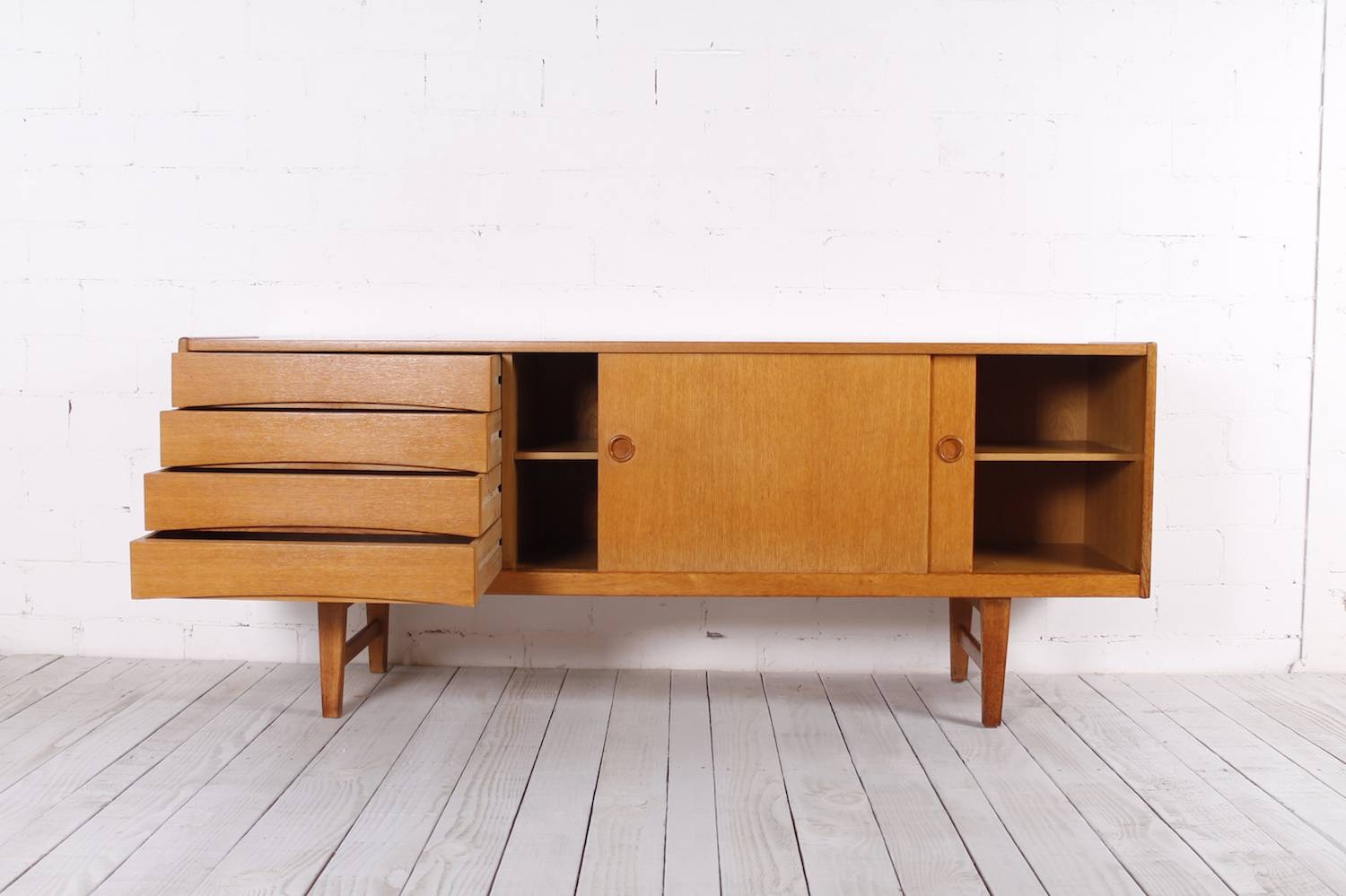 Vintage Oak Sideboard, 1950S For Sale At Pamono with Oak Sideboards (Image 28 of 30)